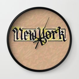 New York Comic Style Wall Clock