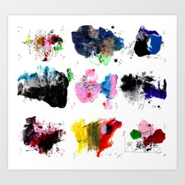 9 abstract rituals (2) Art Print