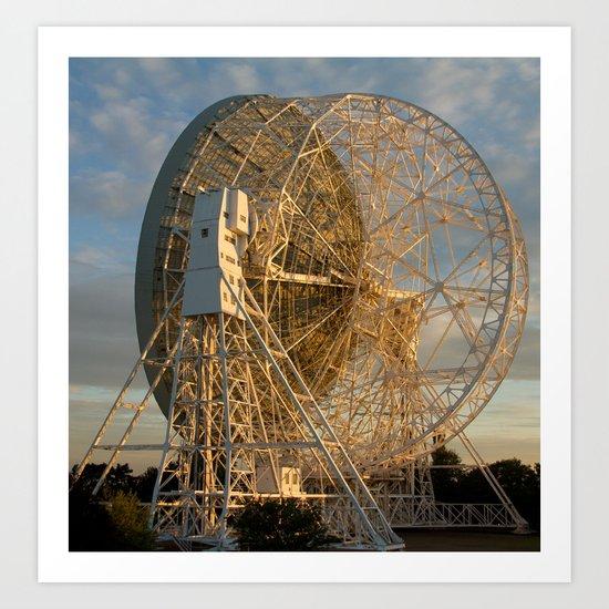 sunset at the telescope Art Print