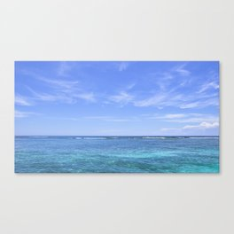 Whispy Clouds and Whitecaps - Tropical Horizons Series Canvas Print