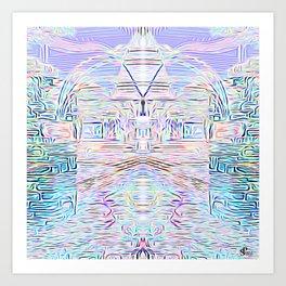 Light Cities of the New World Art Print