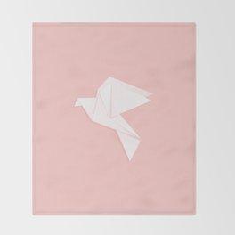 Origami dove Throw Blanket