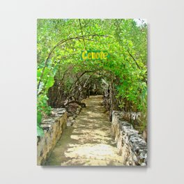 Follow Me to the Cenote, Tulum, Quintana Roo Mexico Metal Print