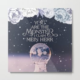 Wintersong - You are the monster I claim Metal Print
