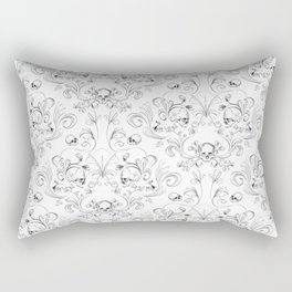 Skull Garden Demask Rectangular Pillow
