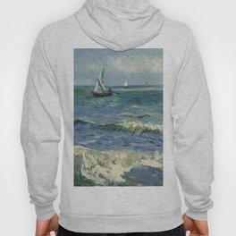 The Sea at Les Saintes-Maries-de-la-Mer by Vincent van Gogh Hoody