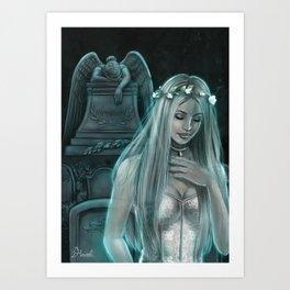 Silver Lady Art Print