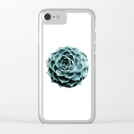 Succulent Echeveria II Clear iPhone Case