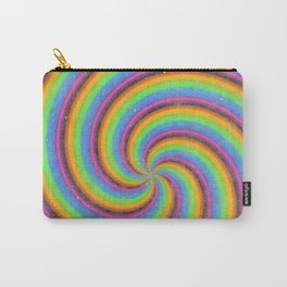 Dizzy Spinning Retro Swirl Carry-All Pouch