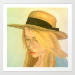 The Woman In The Straw Hat Art Print