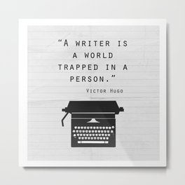 Writer Quote (Square) Metal Print