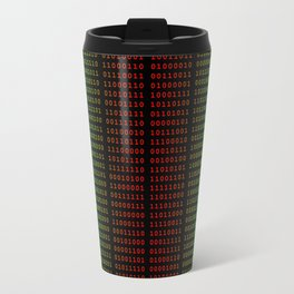 Binary Green and Red With Spaces Travel Mug