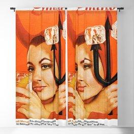 Martini Vintage Poster - Art Print - Vintage Advertisement Poster Retro Artwork Blackout Curtain