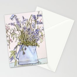 Wildflowers Botanical Flowers in Pitcher Stationery Cards