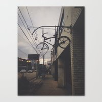 bicycles Canvas Prints featuring Bicycles by Wanderlust Fhotos