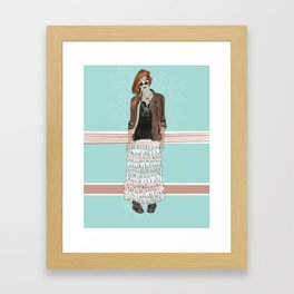 OUT OF THE WOODWORK. Framed Art Print