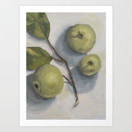 windfall apples Art Print