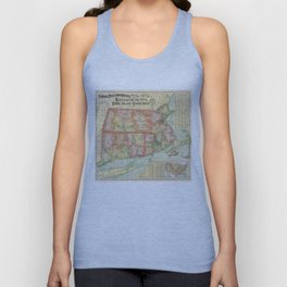 Vintage Map of New England States (1900) Unisex Tank Top