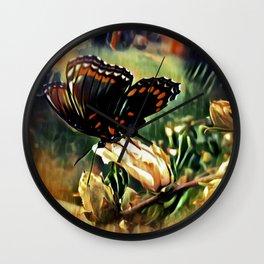Butterfly Summer Wall Clock