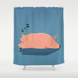 Pig Shower Curtain