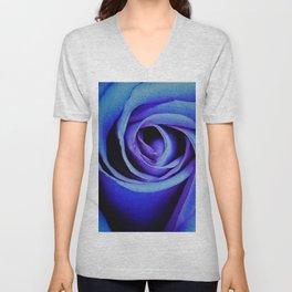 Blue Rose Close Up Unisex V-Neck