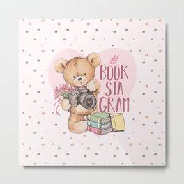 Bear Bookstagram Metal Print