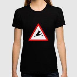 Ballerina Crossig Sign T-shirt