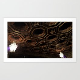 Library Ceiling in the Castle Art Print