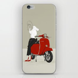 Simply Red - Vespa iPhone Skin