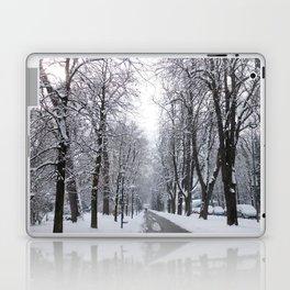 Innsbruck snowed out street Laptop & iPad Skin