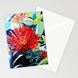 Red Ohia Lehua Stationery Cards