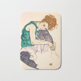 "Egon Schiele ""Seated Woman with Legs Drawn Up"" Bath Mat"