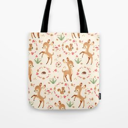 forest animals pattern Tote Bag