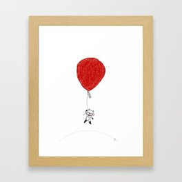 Fox Ballon Framed Art Print