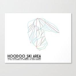 Hoodoo Ski Area, OR - Minimalist Trail Art Canvas Print