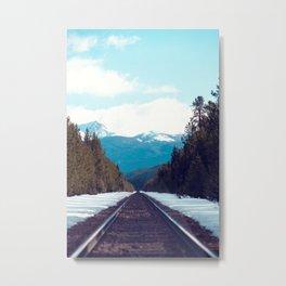Train to Mountains Metal Print