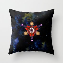Symbol in space Throw Pillow