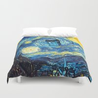 starry night Duvet Covers featuring STARRY by MiliarderBrown