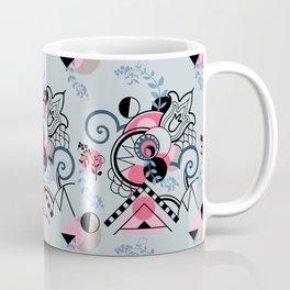 Moon Beams at Midnight, Gray and Pink Coffee Mug