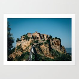 The ancient city of Orvieto in Umbria, Italy Art Print