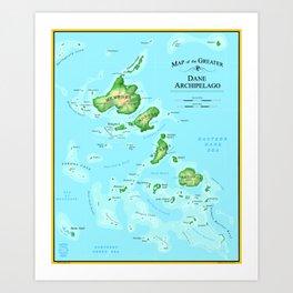 Map of the Greater Dane Archipelago Art Print