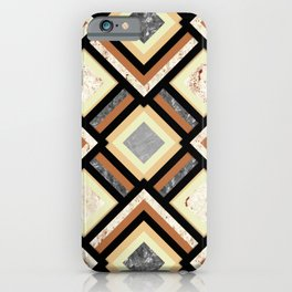 Art Deco Marble Argyles iPhone Case