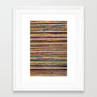 vinyl Framed Art Prints featuring Vinyl by elle moss