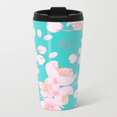 sakura blossoms Metal Travel Mug