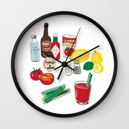 Bloody Mary Wall Clock