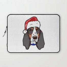 Basset Hound Dog Christmas Hat Laptop Sleeve