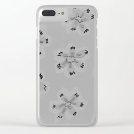 Grey Emily Rose Clear iPhone Case