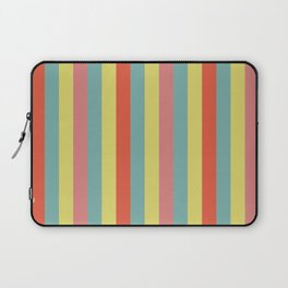 Vertical tropical paradise stripes sunny turquoise lines Laptop Sleeve