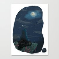 cookie monster Canvas Prints featuring Cookie monster by David Pavon