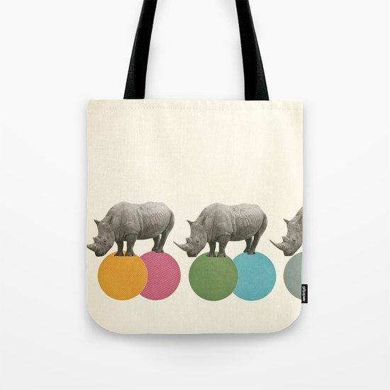 Rambling Rhinos Tote Bag